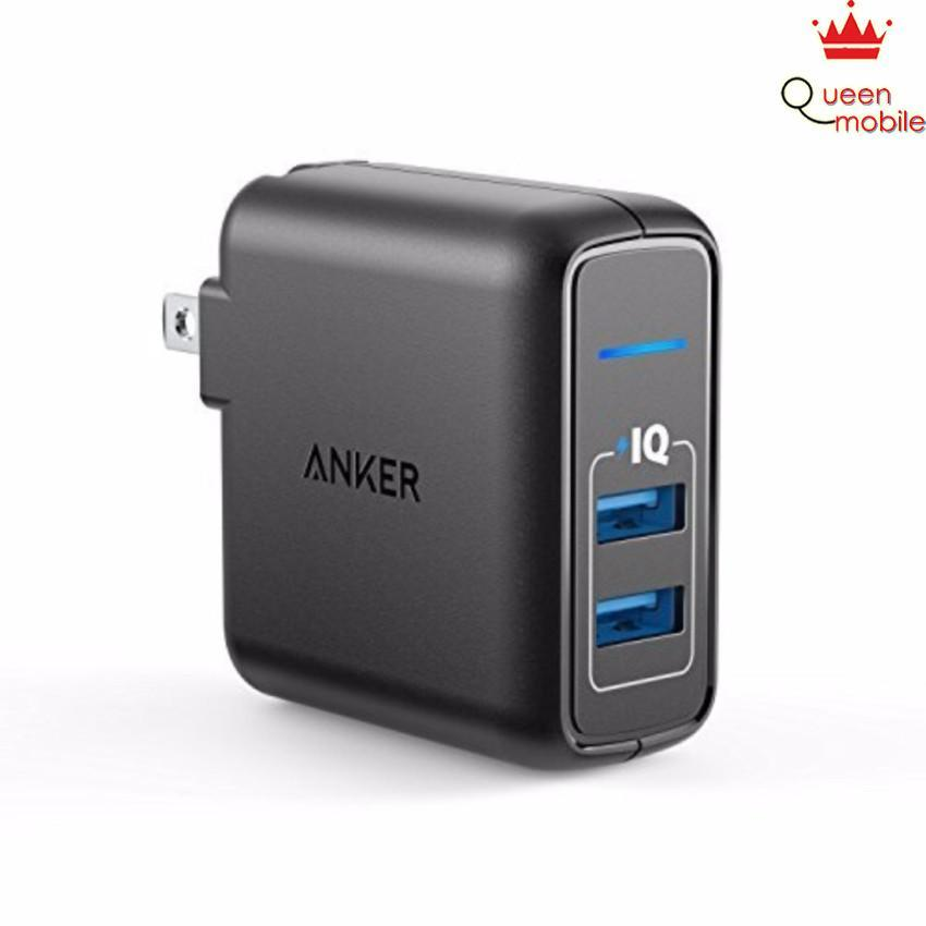 Sạc Anker 2 cổng PowerPort 24W 2-Port iPhone Charger (Đen)