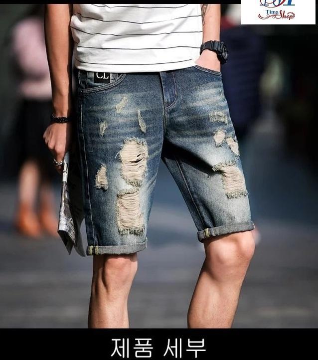 Mua Quần Jeans Bo Short Lửng Nam Họa Tiết Han Quốc Thời Trang Cl 3 Timashop26 Oem Nguyên