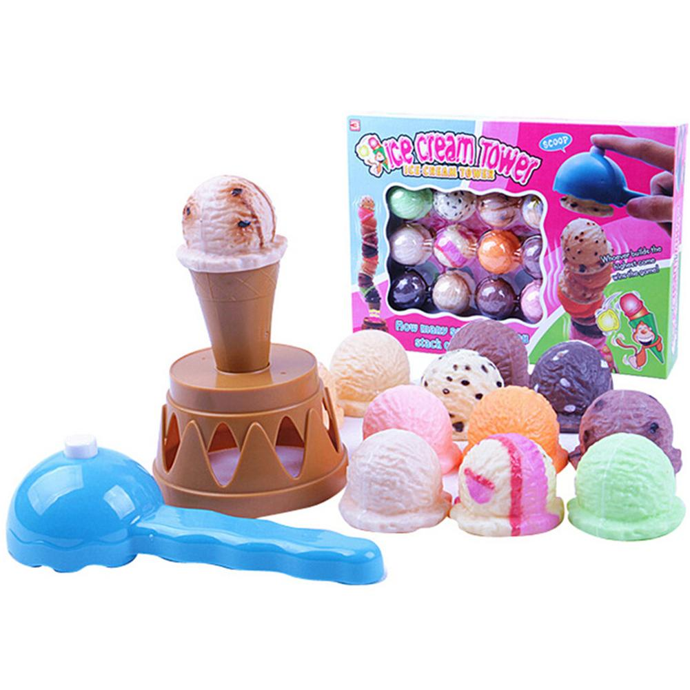 Children Simulation Ice Cream High Stacked Tower Toy Exercise Balance Hand-Eye Coordination Training Toy Style:stacked High Qimiao By Chesy