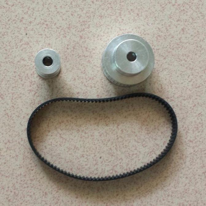 Hình ảnh Bộ buly dây đai 16-40 răng lỗ 5mm và dây đai 200mm