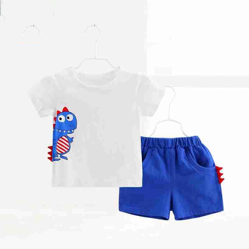 Hình ảnh Bộ ngắn tay khủng long siêu cute cho bé trai