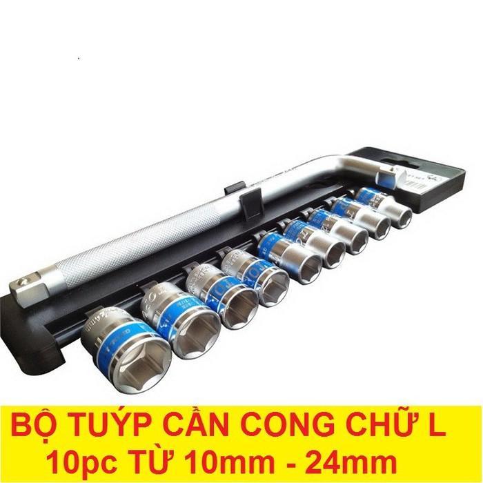 Bộ tuýp cần cong chữ L 10 chi tiết 10mm - 24mm