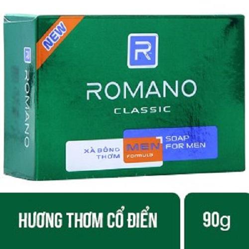 Hình ảnh Combo 3 hộp Xà bông cục Romano Classic hộp 90g/hộp - hương nước hoa classic