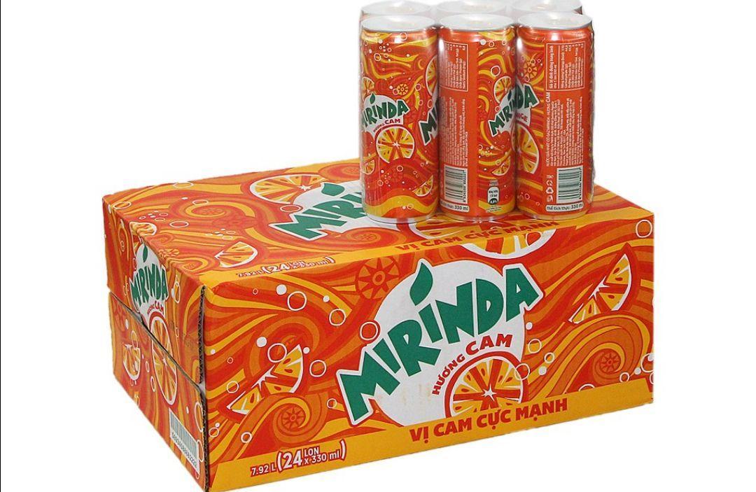 Hình ảnh Mirinda cam thùng 24lon