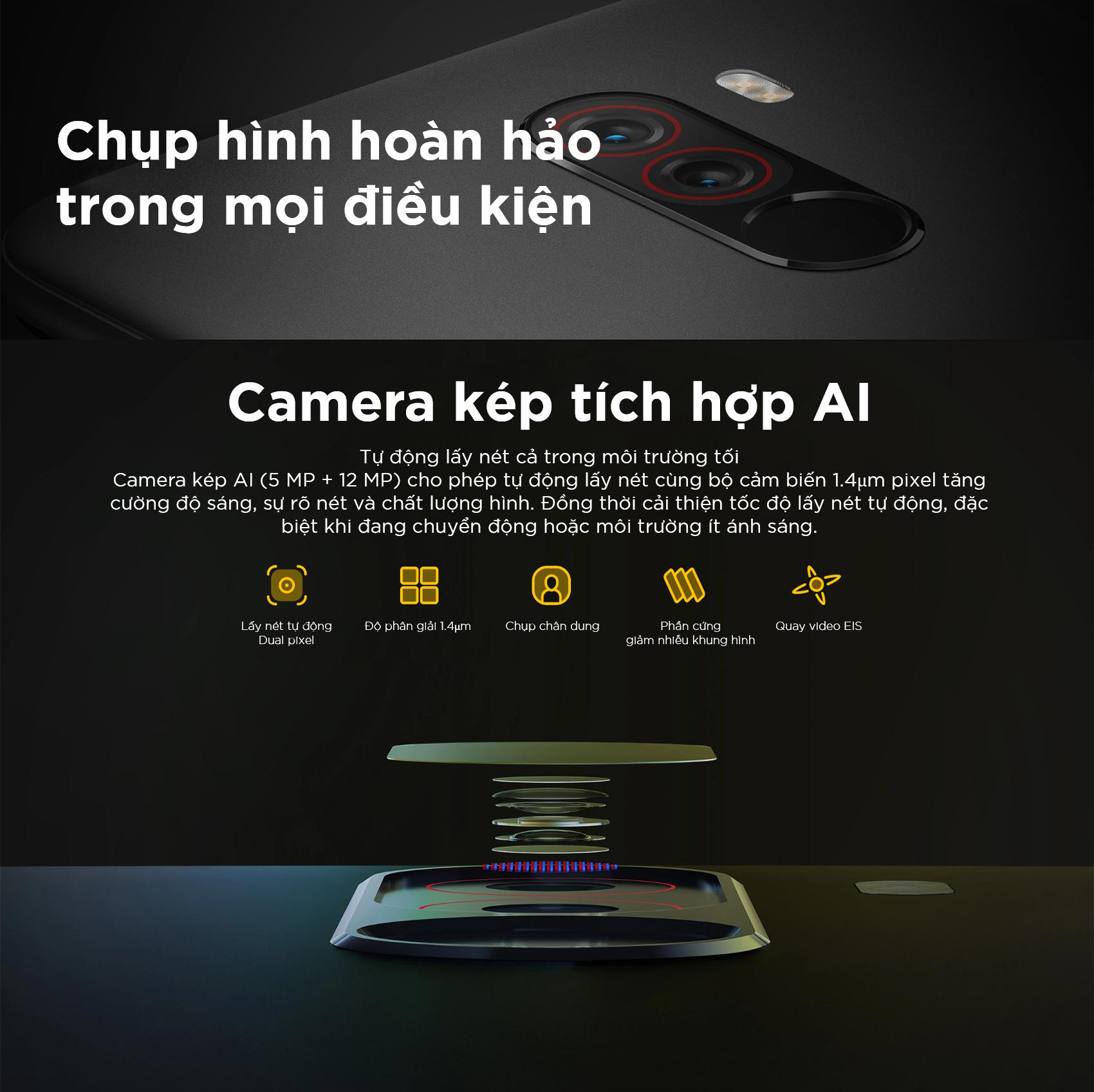 Điện thoại Pocophone Xiaomi Ram 6G-ROM 64GB