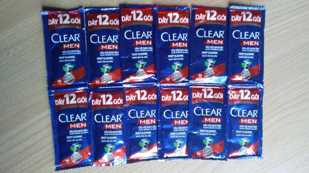 Combo 30 gói dầu dội clear men 5g
