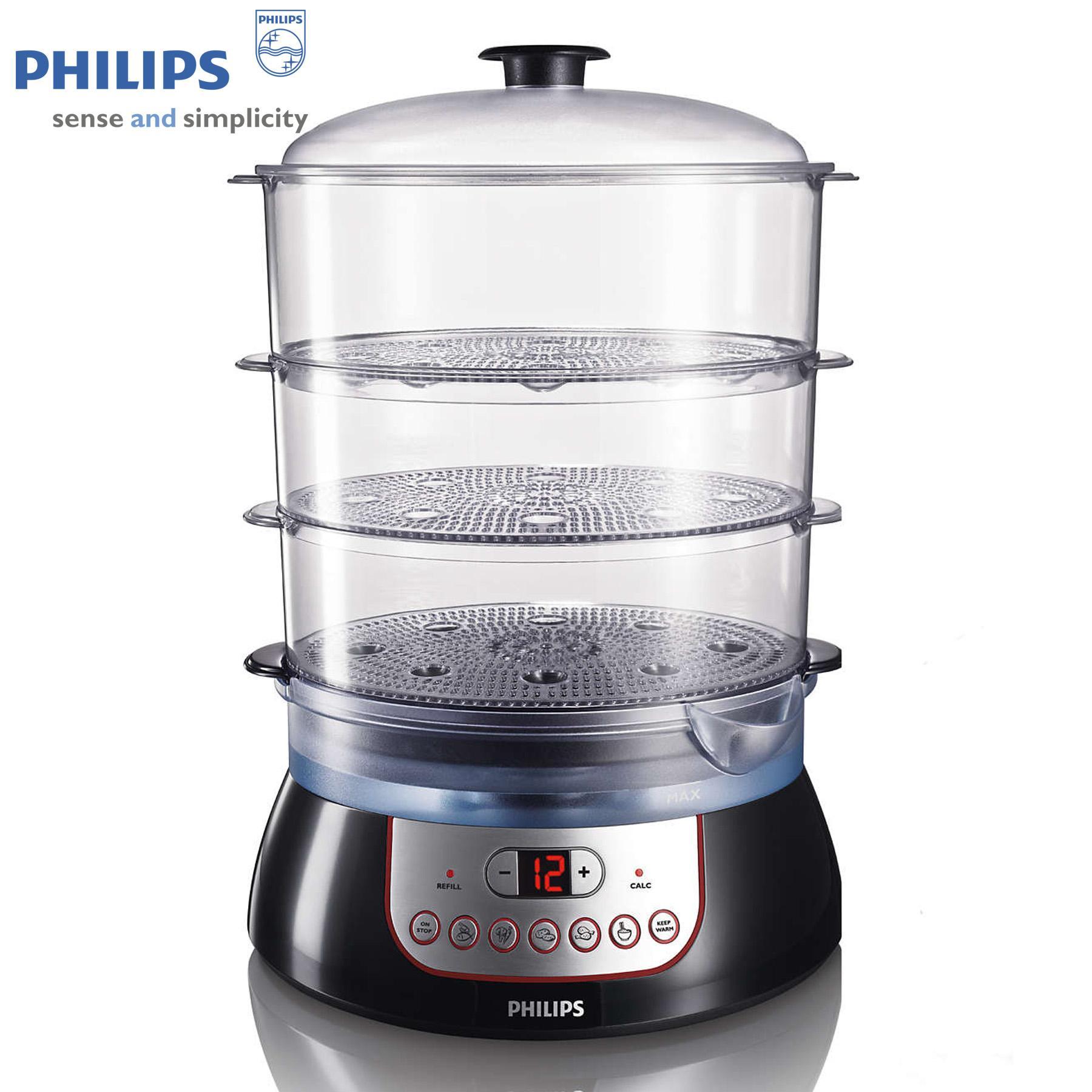 Hình ảnh Nồi hấp Philips HD9140 (Đen) - Hàng nhập khẩu