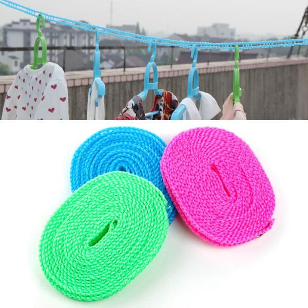 Japanese Style Anti-slip Windproof Clothes Lanyard Hanging out the Clothes Lanyard Air Dry Lanyard Outdoor Travel Fence Type Clothesline Was Airing a Quilt on the Lanyard 5 M