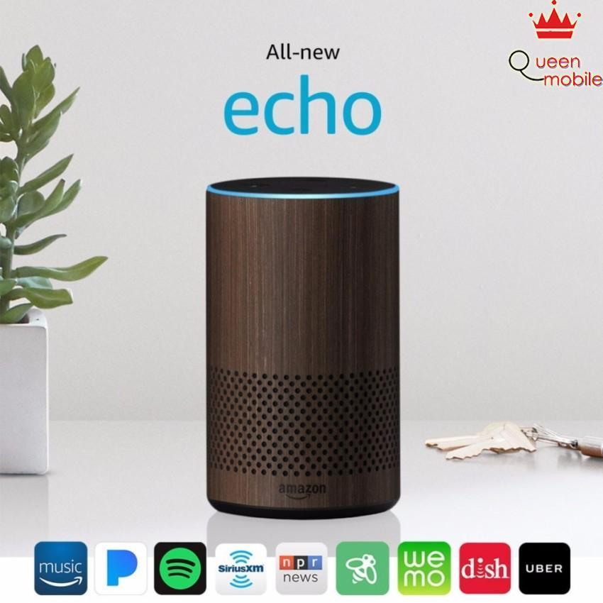 Loa thông minh Amazon All New Echo (2nd Generation) màu Walnut Finish – Review và Đánh giá sản phẩm