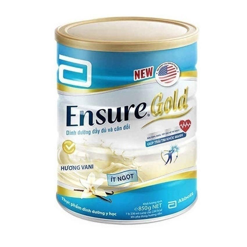 Hình ảnh Lon sữa bột Ensure Gold hương vani ít ngọt 850g