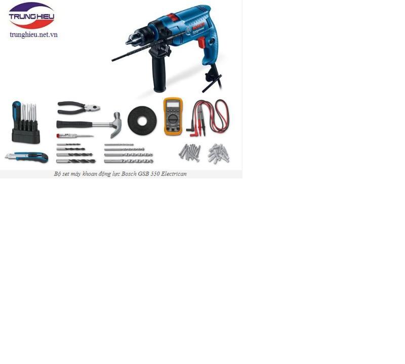 Bộ máy khoan động lực Bosch GSB 550 Electrican