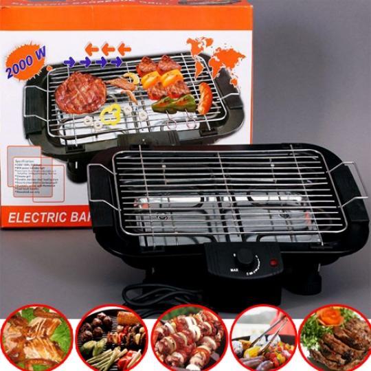 Hình ảnh Bếp nướng không khói Electric Barbecue Grill 2000W, Bep nuong bang ga, BH 1 đổi 1 Uy Tín, Giảm 50% Khi Mua Trên LAZADA