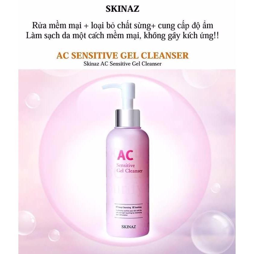 Bán Sữa Rửa Mặt Ac Sensitive Gel Cleanser Skinaz Han Quốc Skinaz Có Thương Hiệu