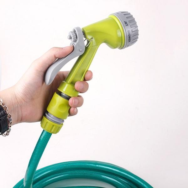 Bộ vòi xịt rửa xe tưới cây vệ sinh nhà cửa siêu bền đa năng tiện lợi kèm dây dài 10m Jihom KL113