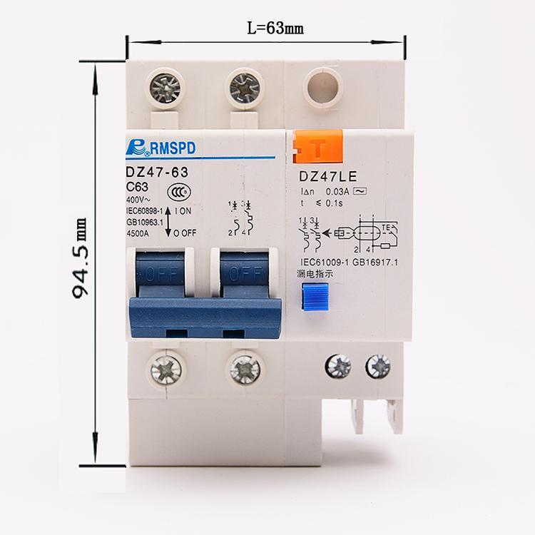 Aptomat chống giật 1 pha, 2 pha, dòng điện từ 10A đến 63A