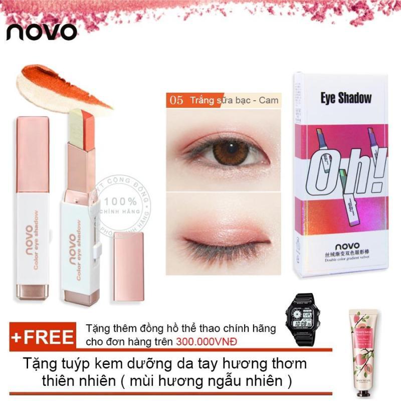 Son sáp kẻ mắt ánh nhũ 3D Novo Pearlescent Eye Shadow 5099 + Tặng tuýp kem dưỡng da tay hương thơm thiên nhiên ( Đơn hàng  mỹ phẩm trên 300k tặng thêm 1 đồng hồ thể thao như quảng cáo)