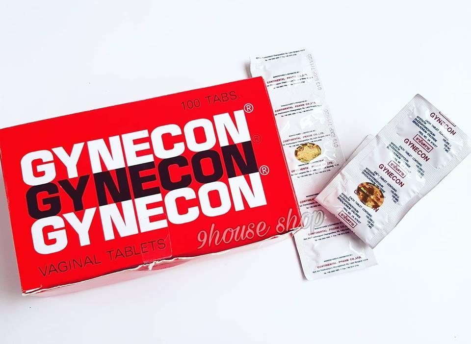 Viên đặt phụ khoa GYNECON Thái Lan (1 vĩ 5 viên)