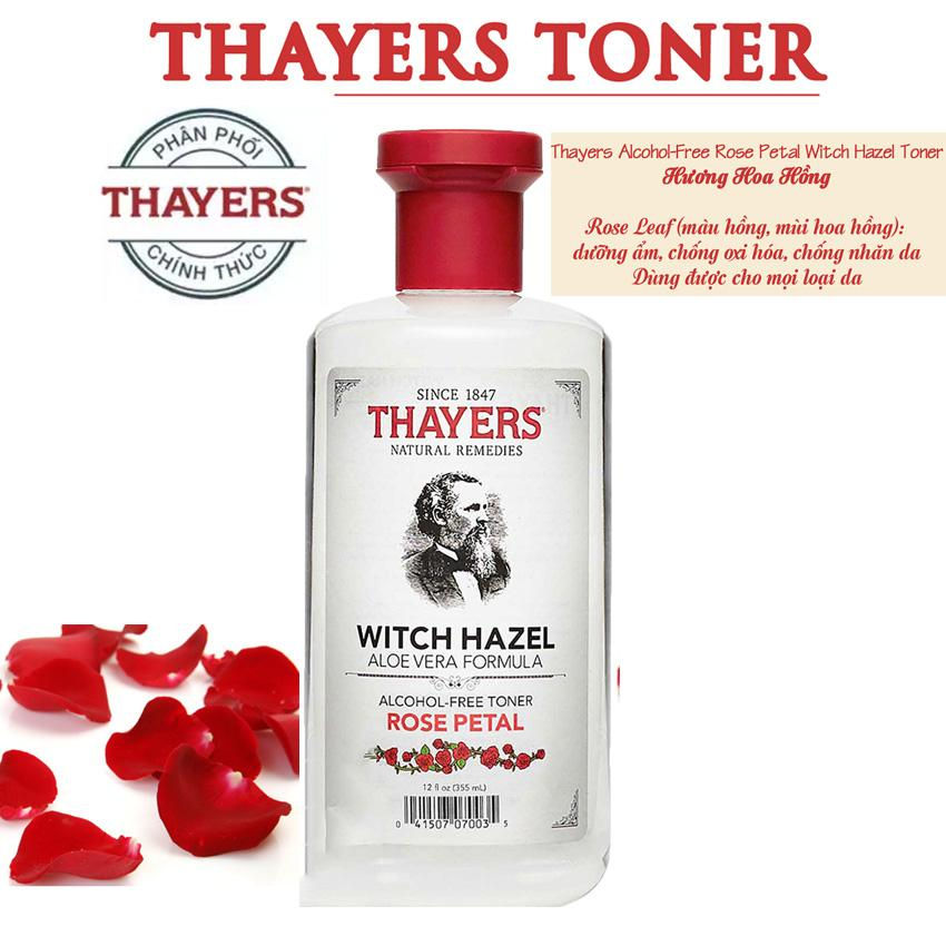 Nước Hoa Hồng Thayers Alcohol Free Witch Hazel Toner Rose Không Chứa Cồn 355ml