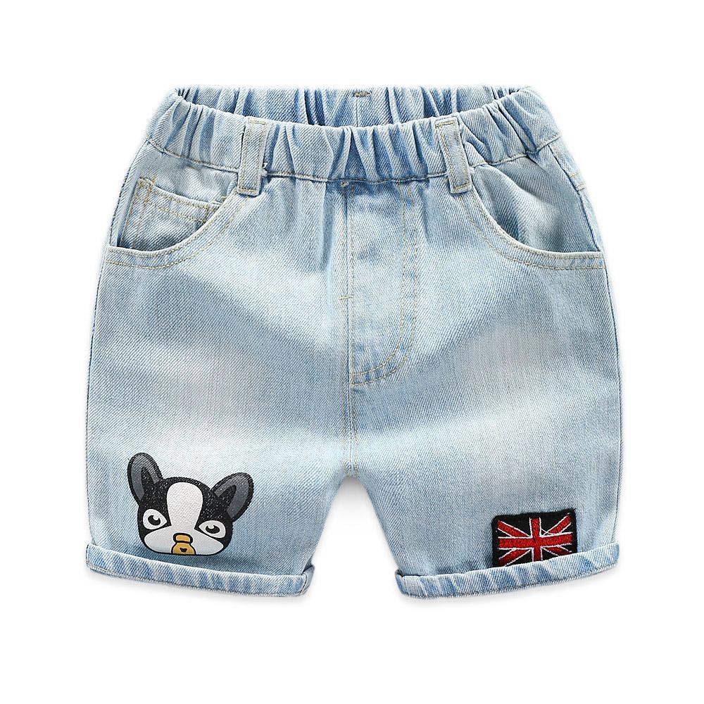 Kartun anak-anak celana jeans anak laki-laki musim panas celana setengah paha Gaya Korea celana pendek 2019 model baru pakaian anak-anak Petpet Celana pakaian musim panas