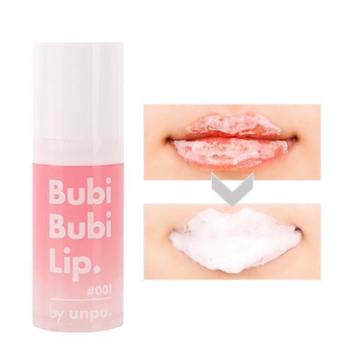 Gel sủi cực lành tính, làm bong tróc da chết, siêu mềm môi Unpa Bubi Bubi Lip nhập khẩu