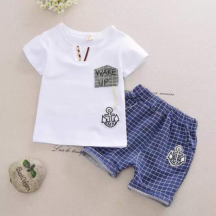 Bộ wake up cotton cho bé từ 1 đến 5 tuổi