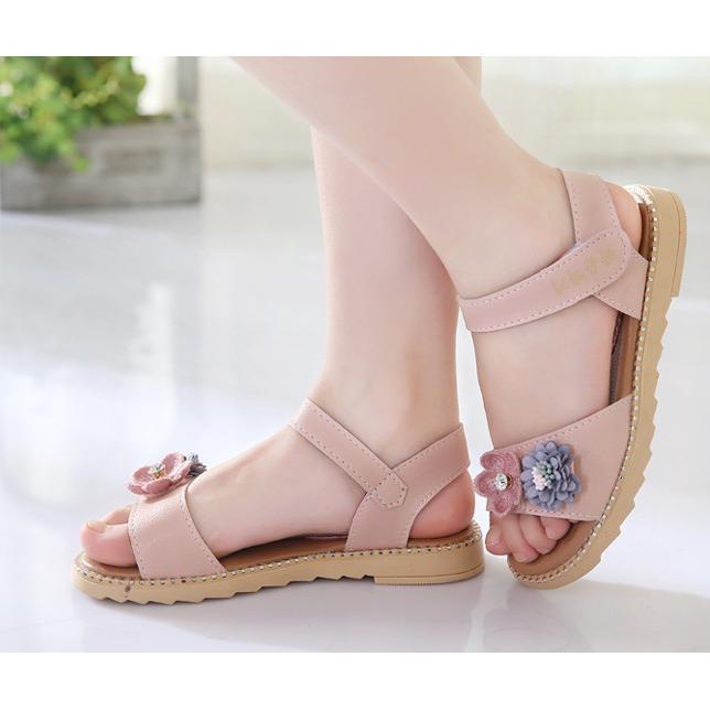 Hình ảnh Dép sandal bé gái hoa trà