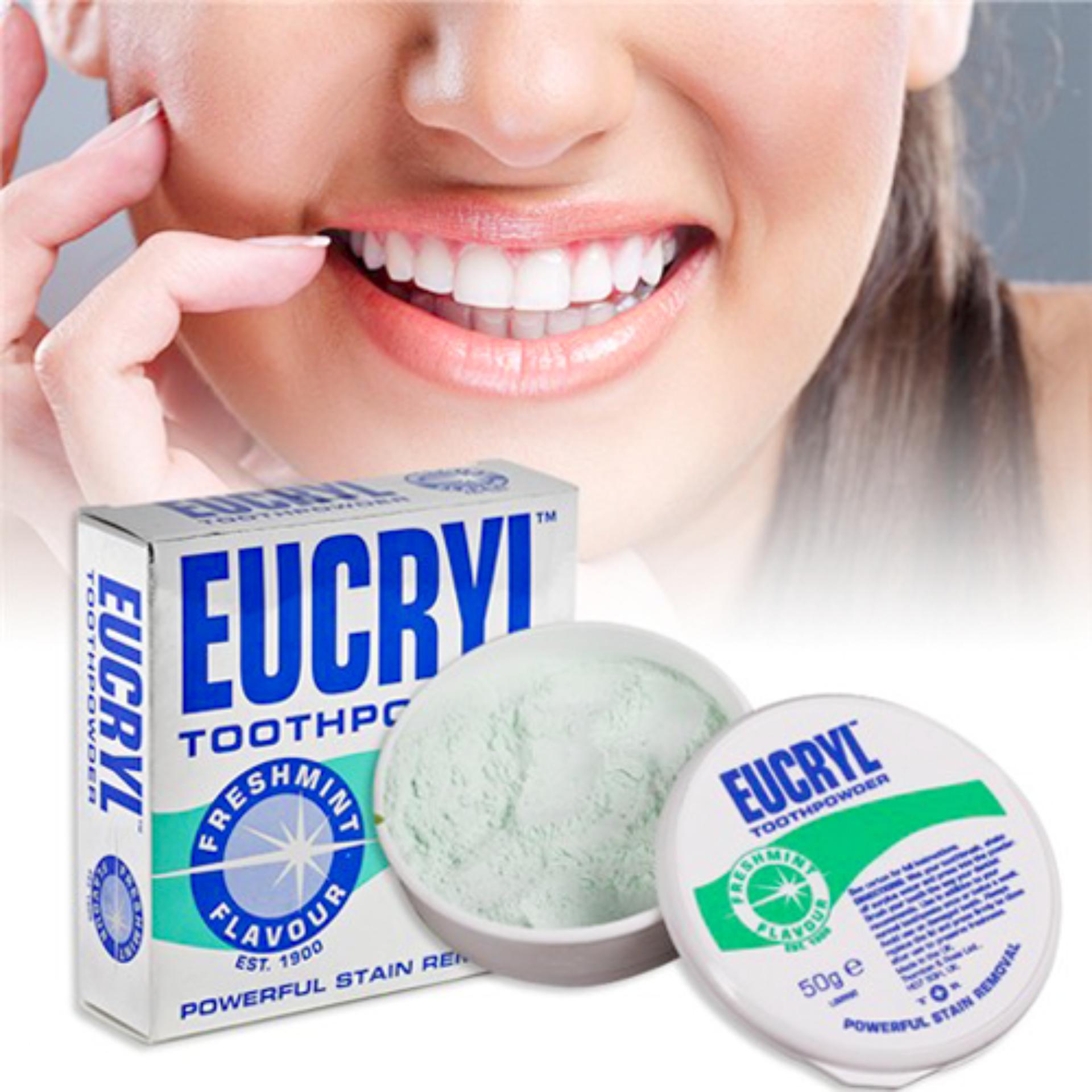 Bột Tẩy Trắng Răng Eucryl  Anh Quốc tốt nhất