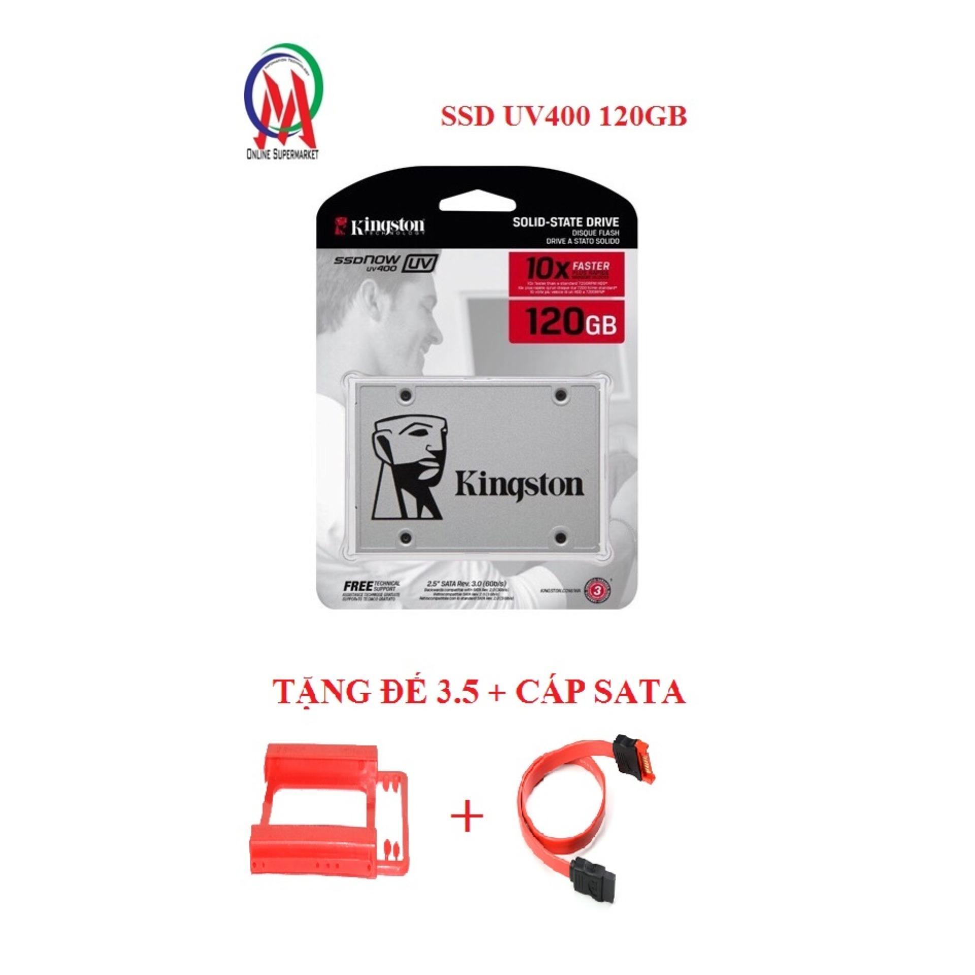 Hình ảnh SSD Kington UV400 120GB cty Bh 36T tặng đế 3.5 + Cáp Sata
