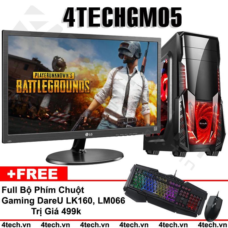 Hình ảnh Máy Tính Chiến Game GTA5, PUBG 4TechGM05 Core i7, Ram 8GB, SSD 128GB & HDD 500GB, VGA GTX1060 6GB, Màn LG 24 inch - Tặng phím chuột Gaming DareU.