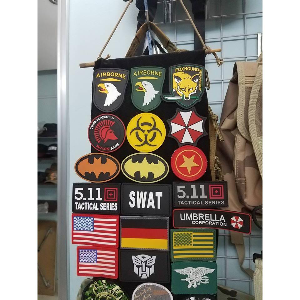Hình ảnh Miếng dán logo sticker patch cờ Mỹ dán trang trí balo lính áo lính