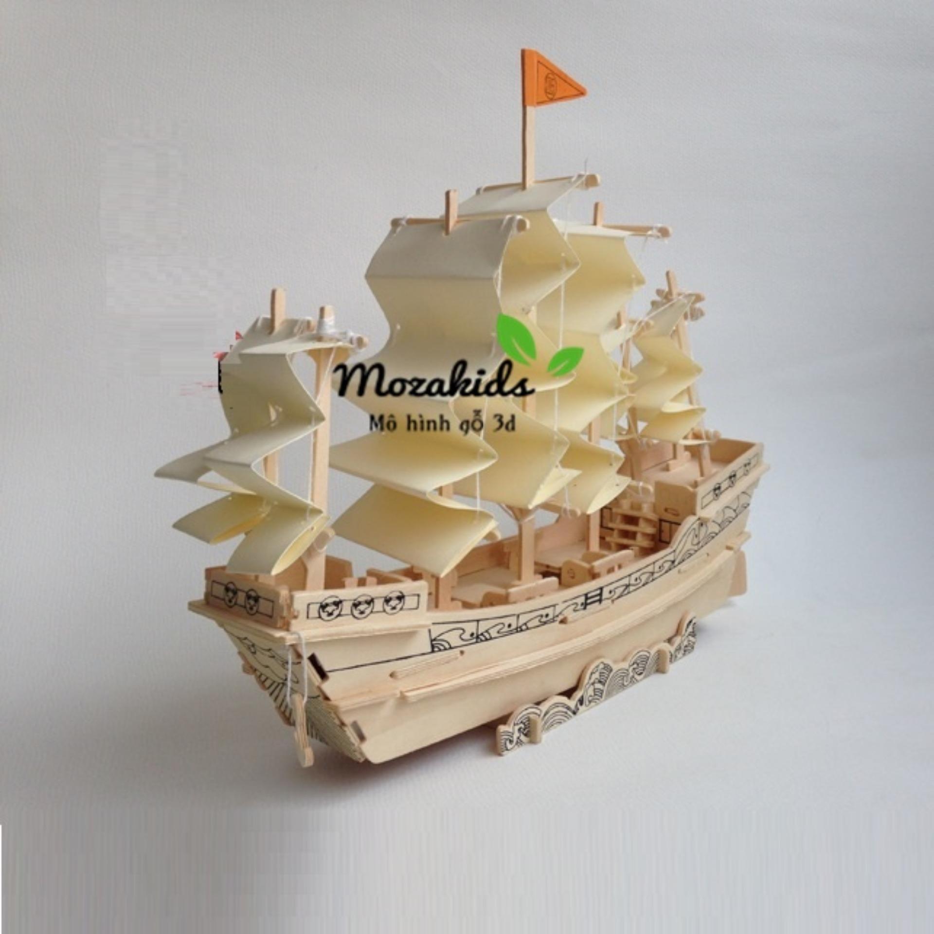 Hình ảnh Đồ chơi lắp ráp gỗ 3D Mô hình Thuyền Nhà Minh