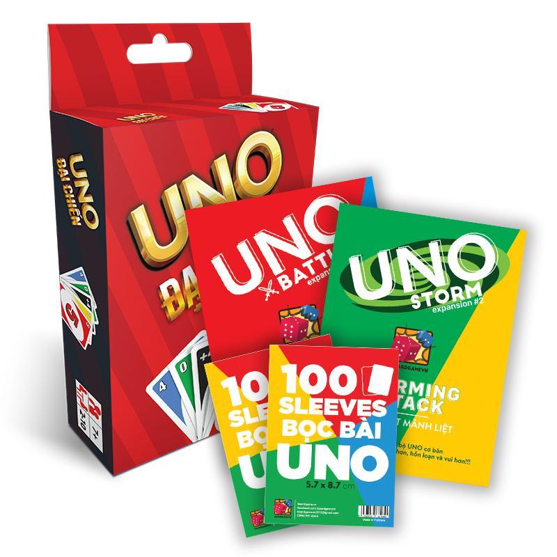 Hình ảnh Combo UNO STORM BATTLE + 2 Gói bọc bài Uno