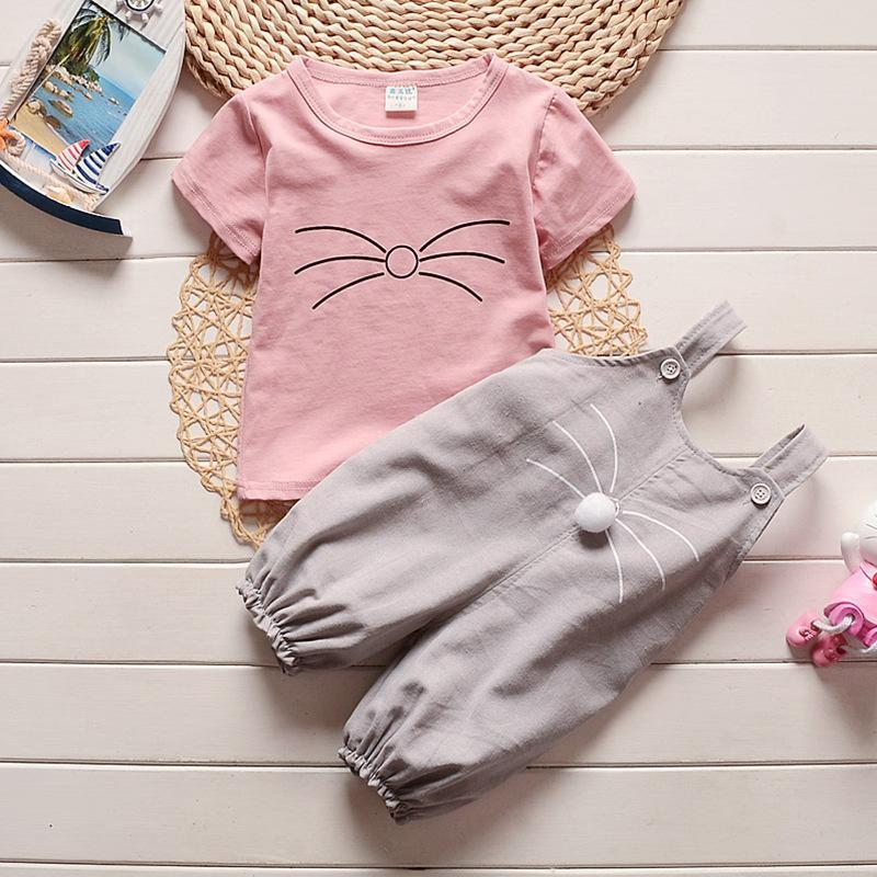 Hình ảnh Set bộ quần áo yếm bé trai/bé gái phong cách Hàn Quốc M228
