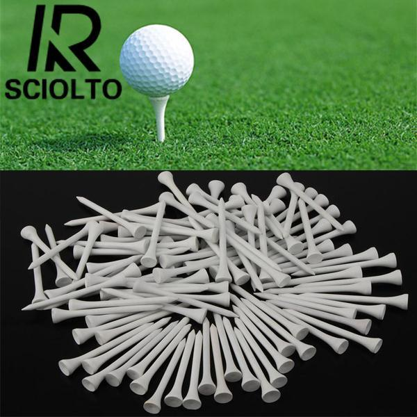 Hình ảnh SCIOLTO SPORTS 100Pcs Sports 70mm Wood Golf Tees Driving Range Mat Holders For Glof Club - intl