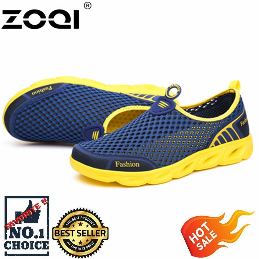 ZOQI Men's And Women's Fashion Mesh Light Breathable Sport Shoes Water Shoes(Dark ...