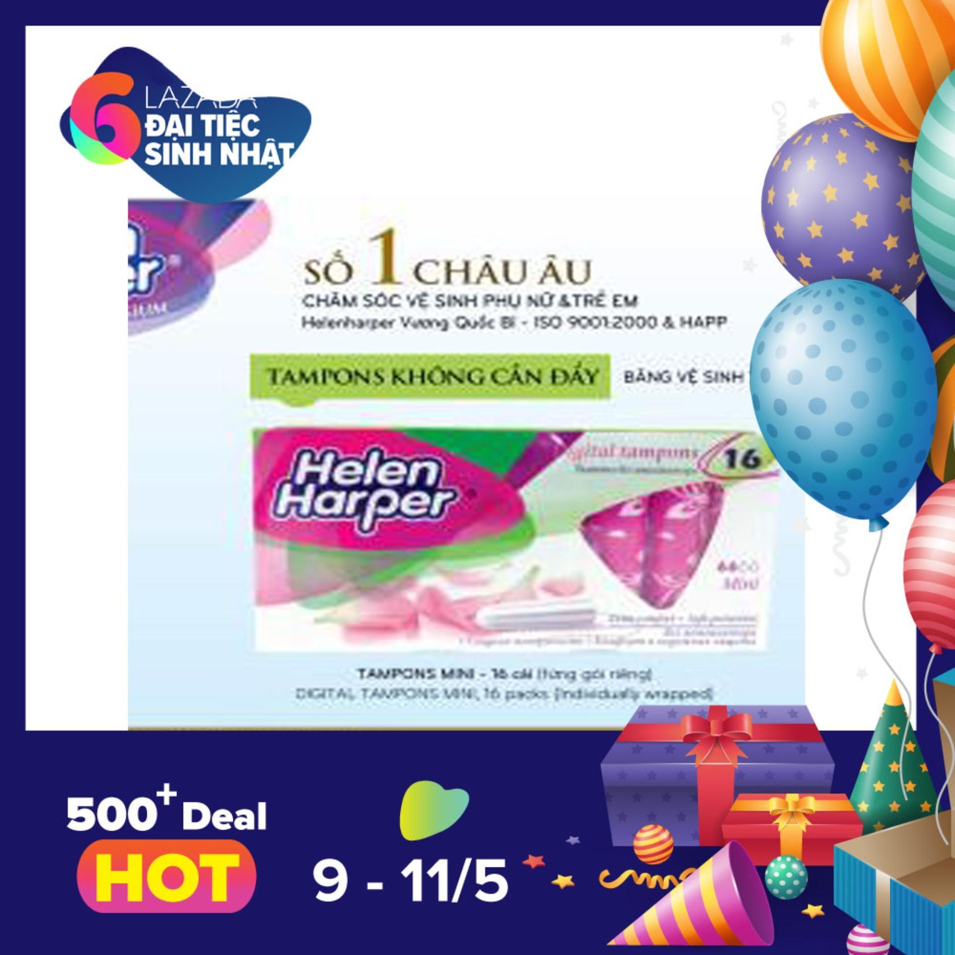 Bán Bộ 2 Băng Vệ Sinh Helen Harper Tampon Mini 16 Miếng Bộ 2 32 Miếng Rẻ