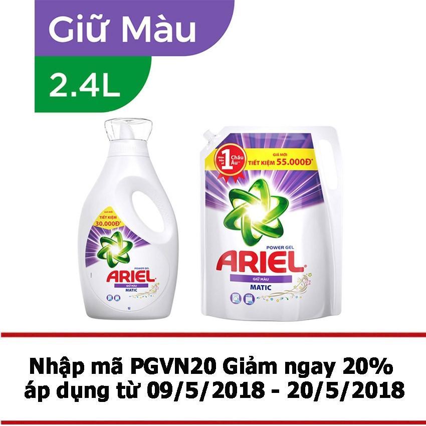 Giá Bán Bộ Nước Giặt Ariel Matic Color Gel Đậm Đặc 2 4Kg Dạng Chai Va Nước Giặt Ariel Matic Color Gel Đậm Đặc 2 4Kg Dạng Tui Rẻ