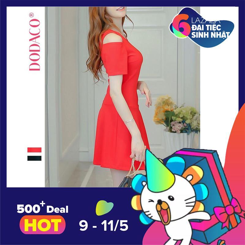 Bán Đầm Nữ Trang Phục Nữ Thời Trang Nữ Dodaco Ddc1901 Kkk37 Đỏ Rẻ Nhất