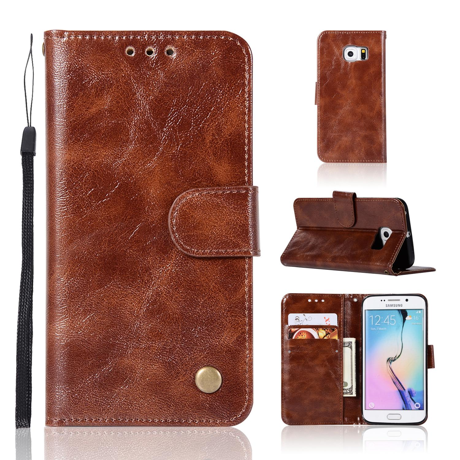 Casing For Samsung Galaxy S7 Edge (g9350),reto Leather Wallet Case Magnetic Double Card Holder Flip Cover By Life Goes On.
