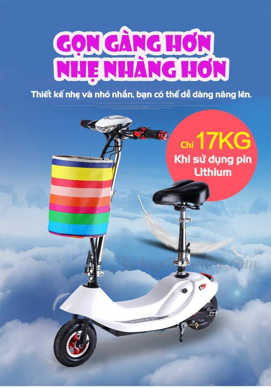 Xe đạp điện mini E-Scooter 2018 - Xe điện mini giá rẻ