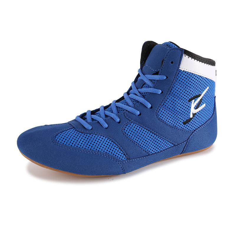 Men Professional Boxing Wrestling Fighting Boots Mesh Breathable Wearable  Comfortable Supporting MALE Sneakers Boxing Shoes 834d3145d7