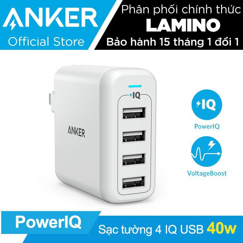 Giá Bán Sạc Anker Powerport 4 Cổng 40W Co Poweriq Trắng Hang Phan Phối Chinh Thức Nguyên