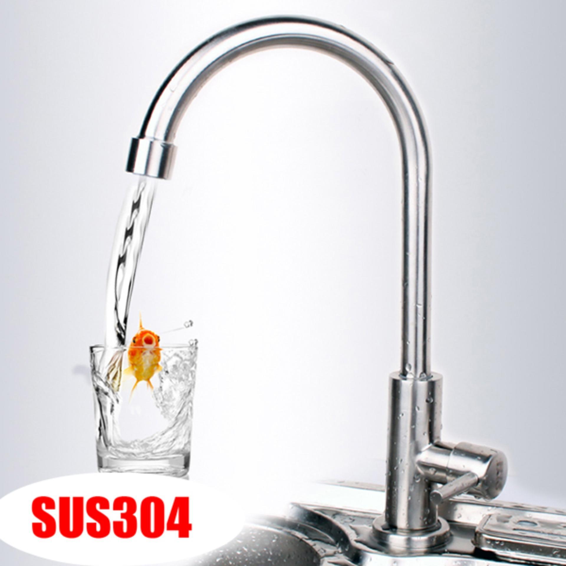 Hình ảnh Vòi rửa chén lạnh Inox SUS 304 6011