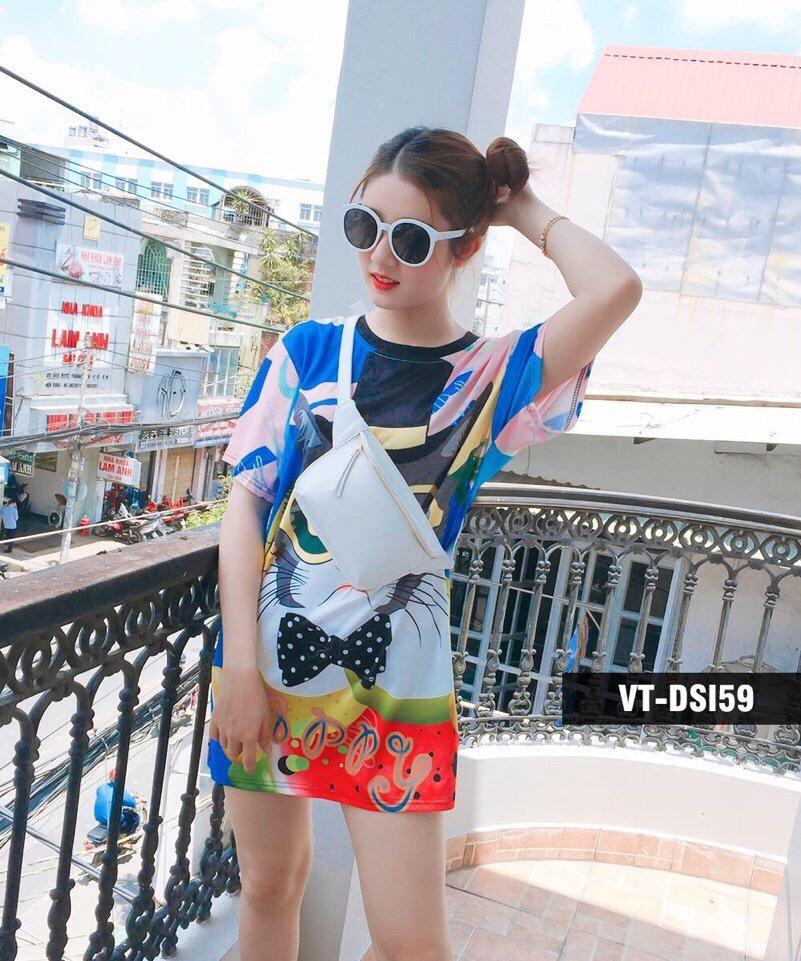 Bán Mua Đầm Suong Nữ Họa Tiết 3D Sieu Đẹp Mới Việt Nam