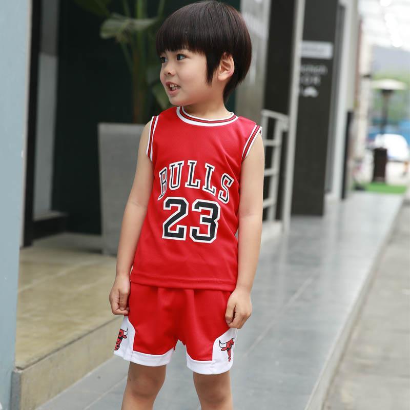 cfe89b68bd Boy s Summer Sports Set Two-Piece Set 2-12 a Year of Age Childrenswear