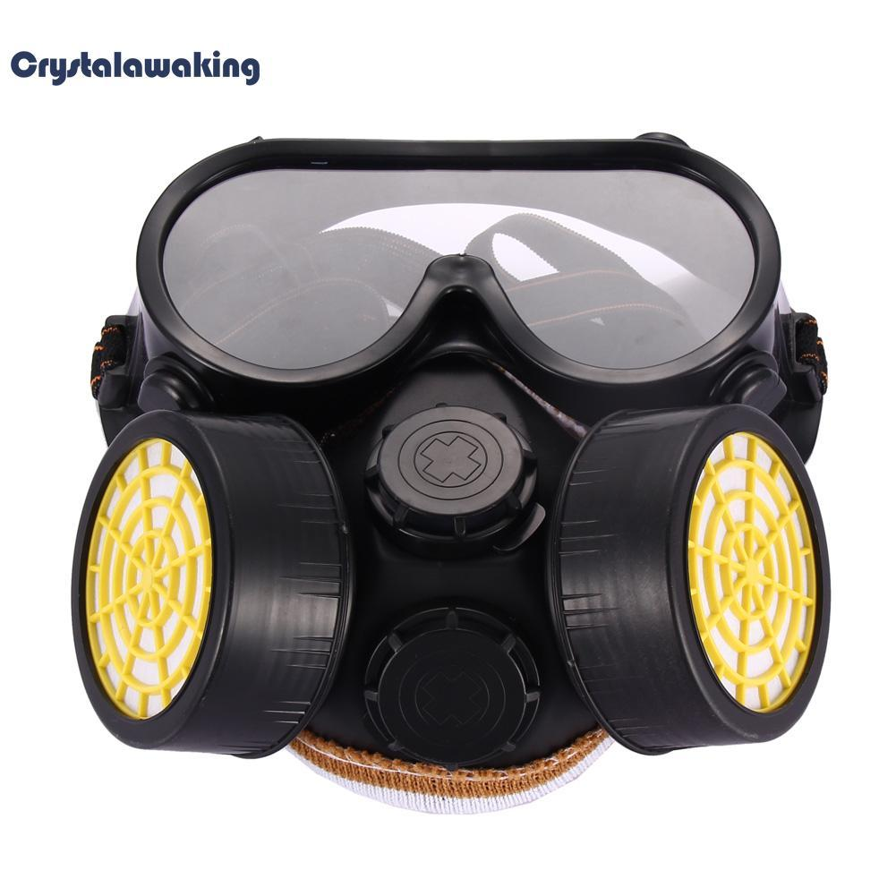 Mặt nạ khí gas công nghiệp chống bụi kèm mắt kính thủy tinh