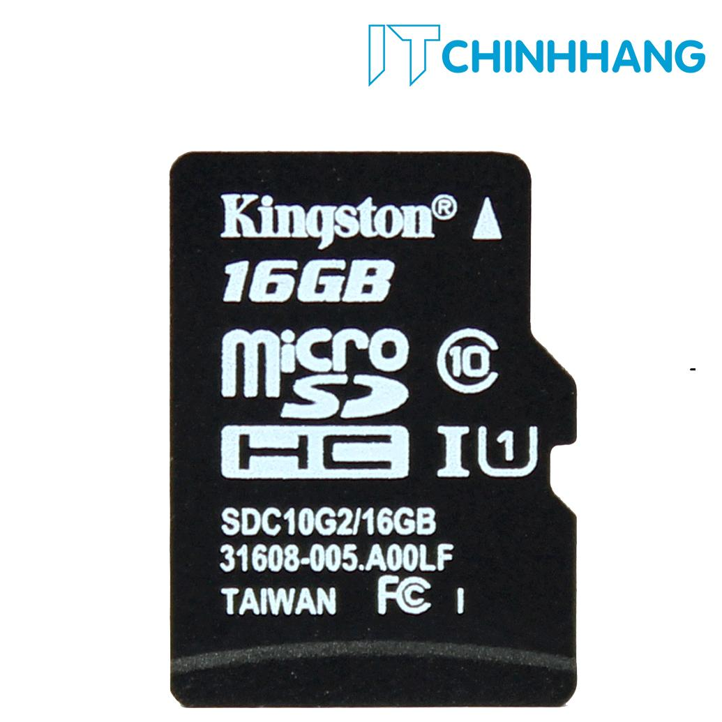 Cửa Hàng Thẻ Nhớ 16Gb Kingston Up To 80Mb S Sdhc C10 Uhs I Sdc10G2 16Gbfr Hang Phan Phối Chinh Thức Kingston Trực Tuyến