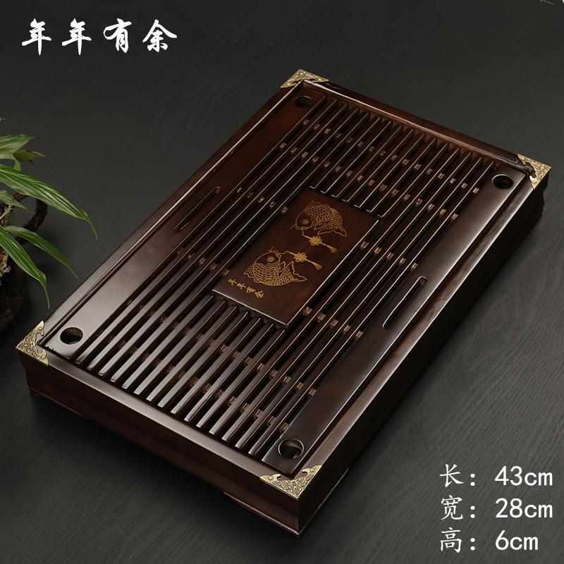 Chen Xiang โต๊ะน้ำชา ทำจากไม้ ระบายน้ำได้ มีลิ้นชัก.