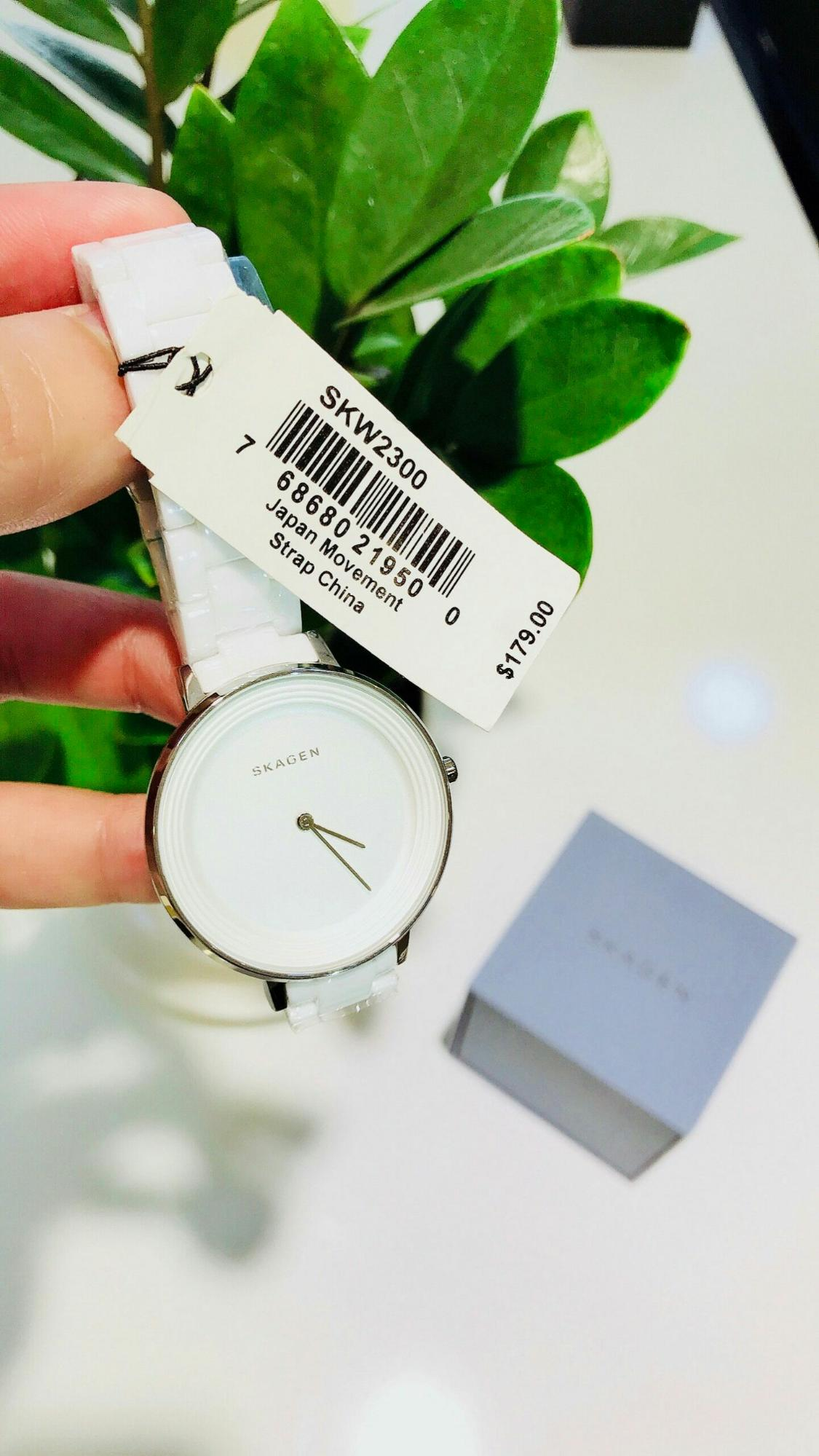 Skagen Ditte White 2300 By Phúc Store Sg.