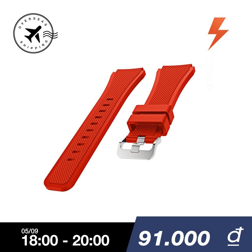 Bán Sports Soft Silicone Replacement Watch Band Strap Watchband Wristband For Samsung Gear S3 Frontier Classic Red Intl Mới